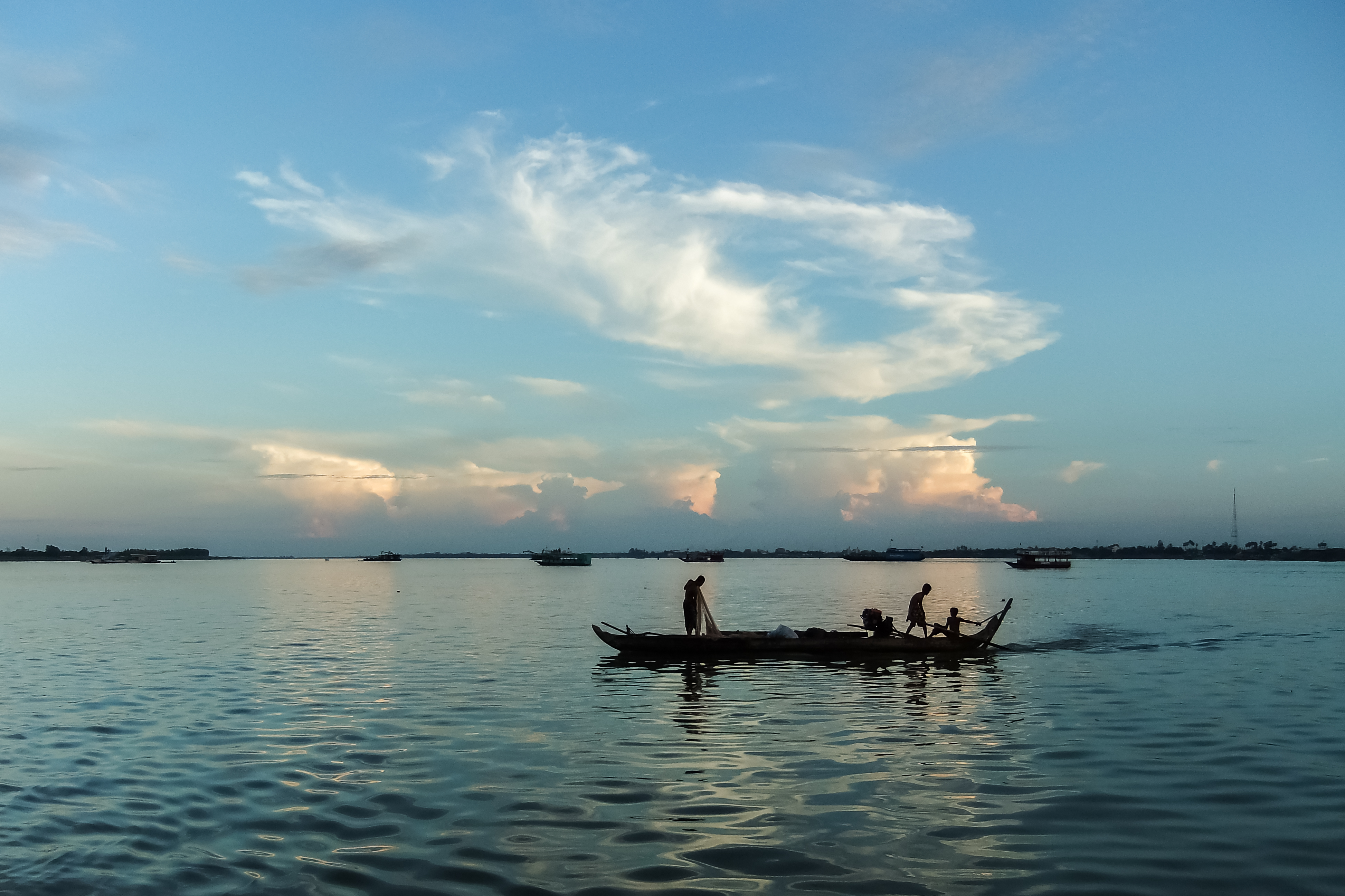 Green Cultural Travel - Cambodia - Tours - River Cruize Sunset (2)