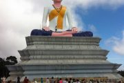 Green Cultural Travel - Cambodia - Kampot - Bokor moutain - Statue